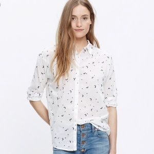 Madewell Celestial Embroidered Shirt/ Moon & Stars